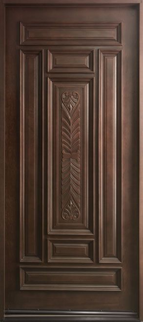 Classic Series Mahogany Solid Wood Front Entry Door - Single - DB-095W