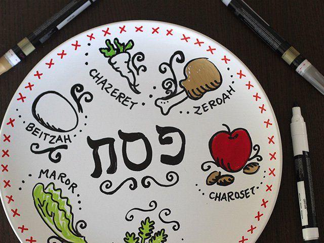 Homemade Passover Seder Plate 5
