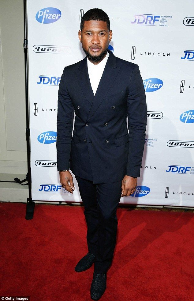Dapper: Usher looked handsome as he arrivedat the JDRF 43rd Annual Promise Ball at Cipriani Wall Street in New York City on Wednesday