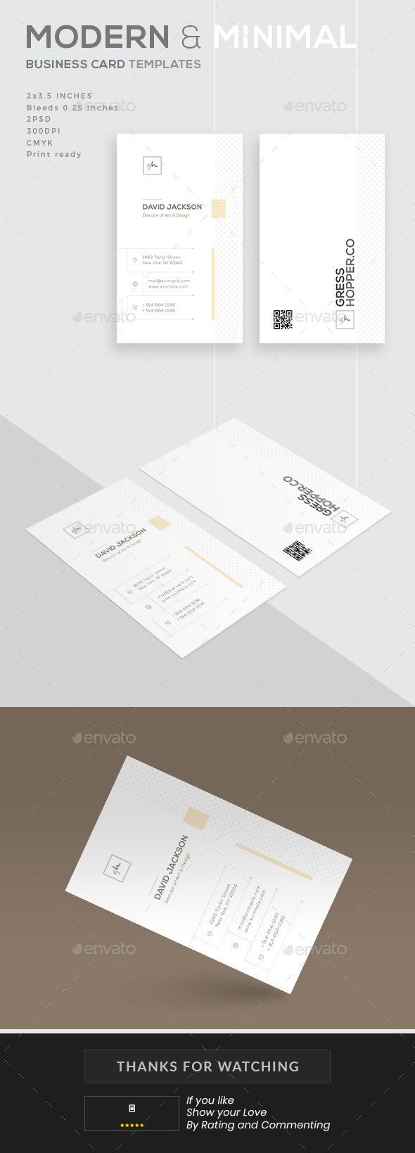 Modern and #Minimal Business Card - #Business #Cards Print Templates