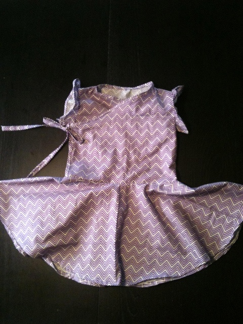 purple wrap with circle skirt
