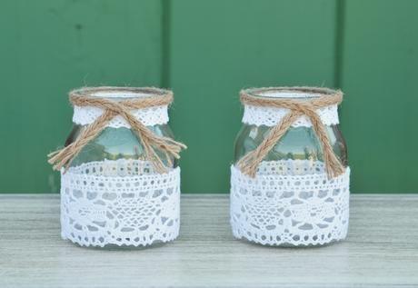 frascos decorados con tela - Buscar con Google