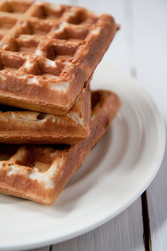 Buckwheat flour morning waffles are crunchy on the outside and fluffy on the inside. Great alternative to gluten flour waffles.