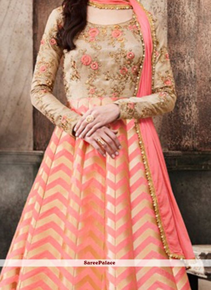 Haute Embroidered Work Floor Length Anarkali Suit