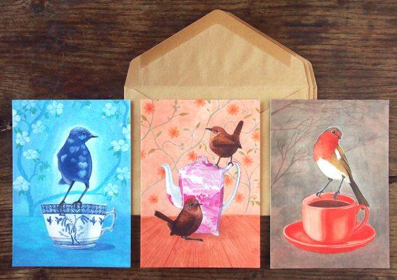 bird illustrations by Ellen Lambrichts