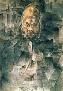 Picasso Pablo (1881-1973) Portrait d'Ambroise Vollard (1868-1939) Printemps 1910 92 x 65 cm   Cubisme