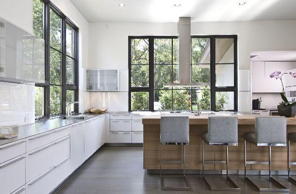 Respectful Design in Dallas, TX..windows, island, floor