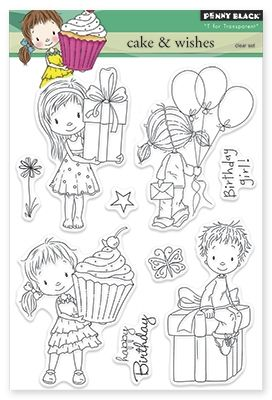 Penny Black Cake and Wishes - Clear Stamp. Penny Black clear stamps featuring…