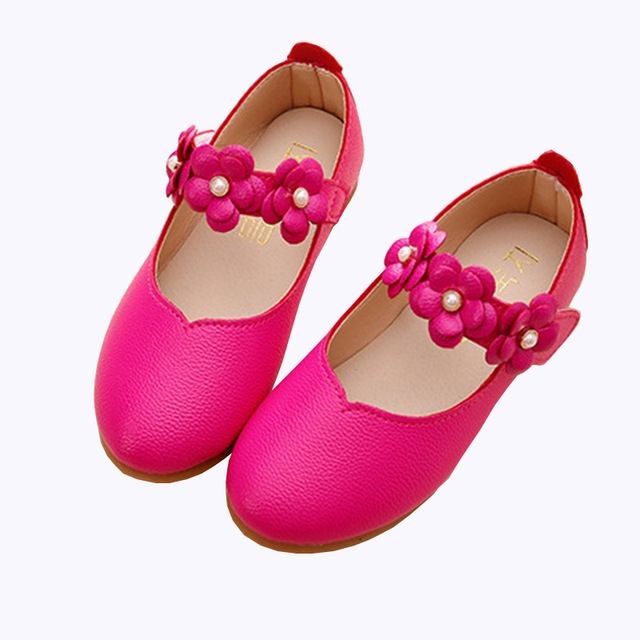 Good Price $11.88, Buy White Pink Kids Baby Flower Children Wedding Party Dress Princess Leather Shoes For Girls School Dance Shoes 1-16 ages 20