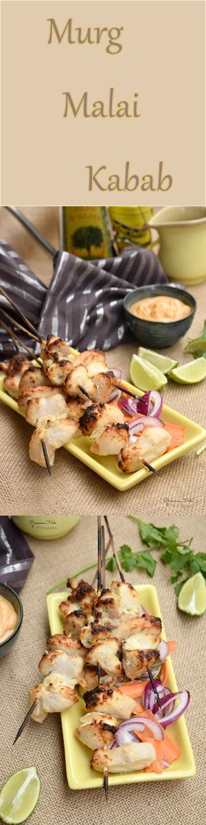 Delicious Chicken Kabab marinated in mild flavors!