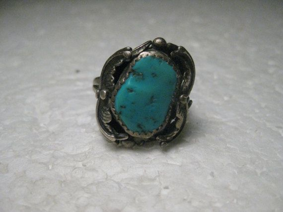 Vintage Sterling Silver Southwestern Turquoise by stampshopgirl