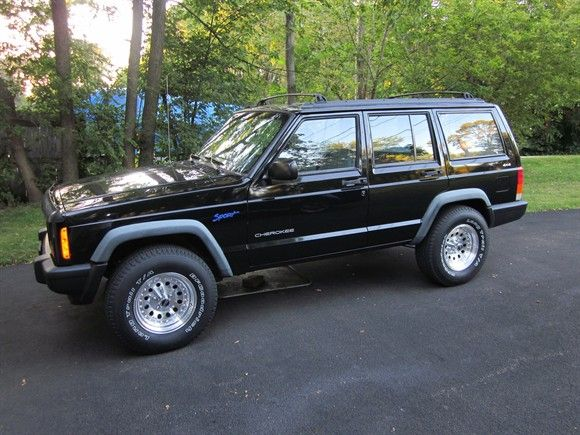 1997 Jeep Cherokee Sport.  Looked just like this.  15 years later it became My first born's first car!