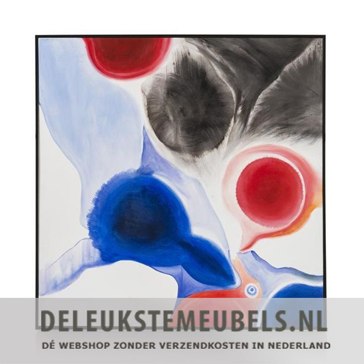 Dit schilderij Watercolor uit de Youniq collectie is een plaatje! Het is geschilderd met olieverf op een doek en omlijst met een zwart frame. De mooie blauwe en warm rode kleuren geven jouw huiskamer of slaapkamer net dat beetje extra. Je maakt het helemaal af met wat leuke kussens in dezelfde tinten op je bank of op het bed! Echt thuiskomen doe je samen met deleukstemeubels.nl!  Wanddecoratie van het merk Youniq online kopen doe je snel en zonder verzendkosten bij deleukstemeubels.nl!