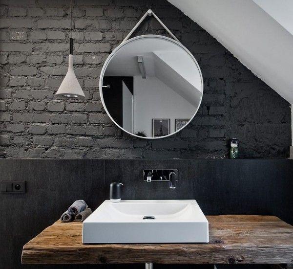 Strap Mirror Specchio Parete Ø 70 Grigio