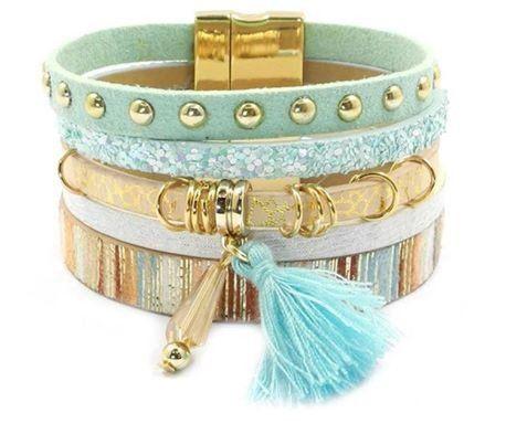 Bohemian bracelet green code 3446 SE