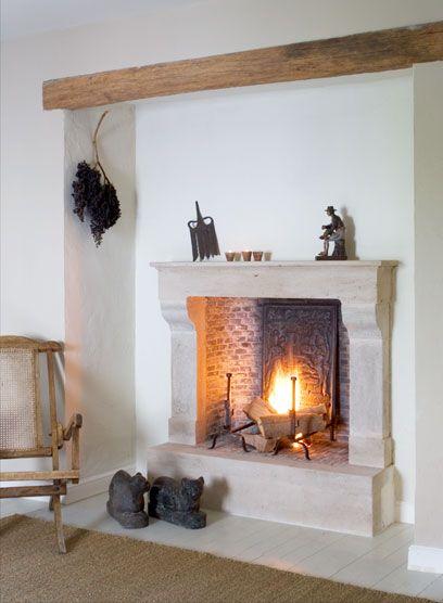 Limestone Fireplace Pol Standaert Bruges Belgium