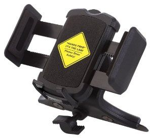 This works great!  Mountek nGroove Universal CD Slot Mount for Cell Phones and GPS Devices: GPS & Navigation