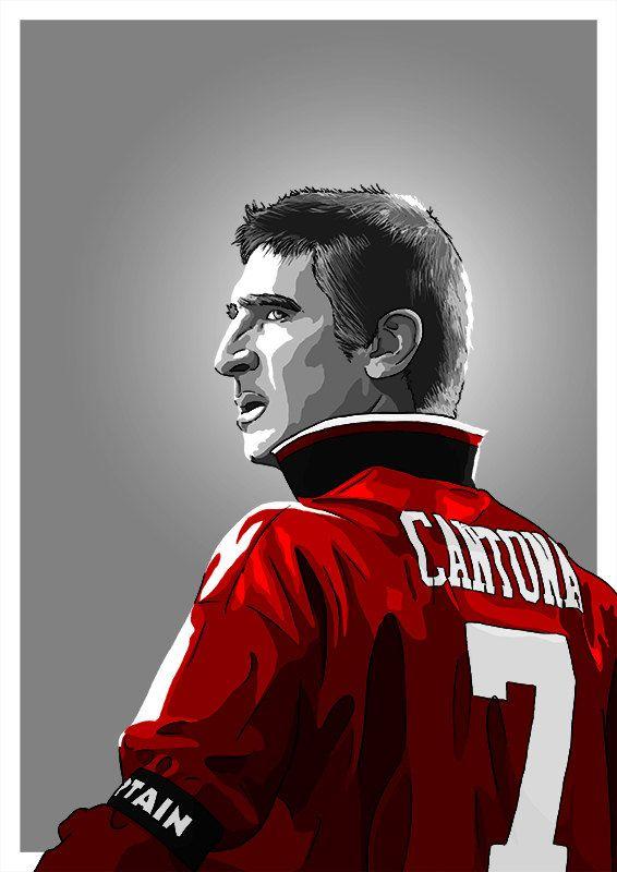 Erik Cantona MUFC by BarryMastersonArt on Etsy
