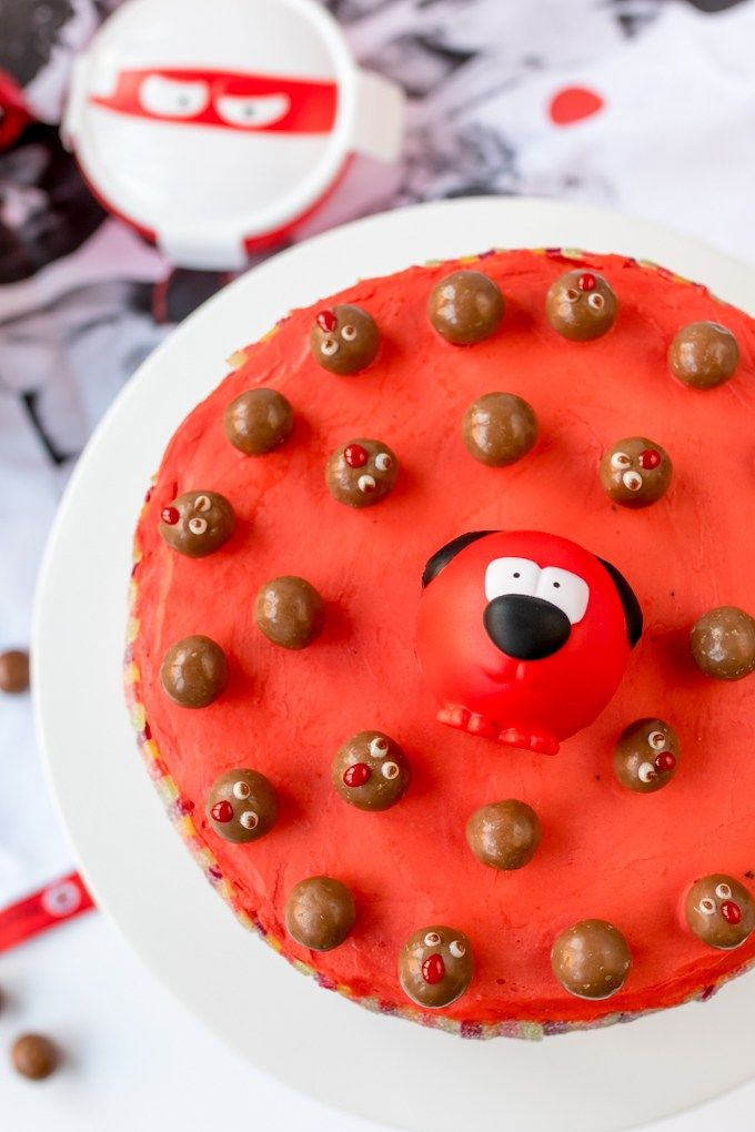 Red Nose Day Rainbow Cake! - Nicky's Kitchen Sanctuary