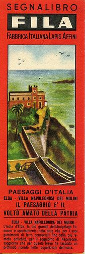 Segnalibri Fila Giotto  Anni 40/50 Serie Paesaggi d'Italia #TuscanyAgriturismoGiratola