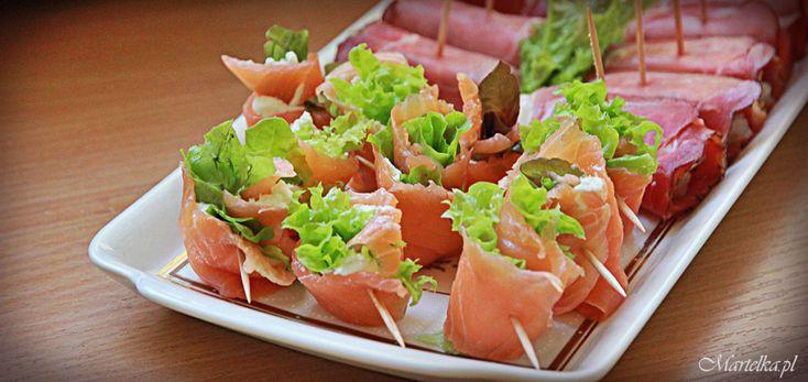 Roladki z łososia/ Salmon fingerfood