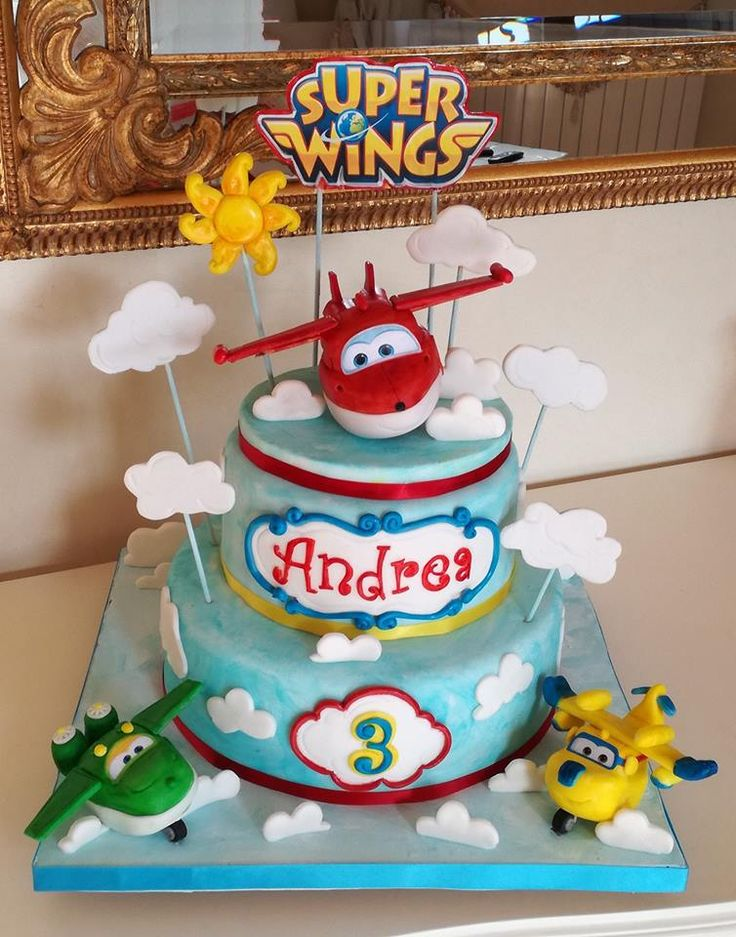 Super Wings 2 Cake