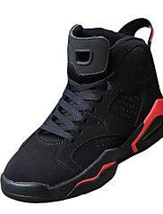 sapatos masculinos pu moda casual sapatilhas sapatilha ocasional salto plana outros preto e dourado / preto e vermelho / preto e branco
