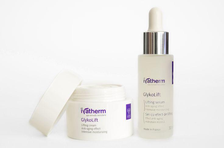 GlykoLift Cream & Serum #ivatherm #thermalwater #herculane #antiageing #wrinkles
