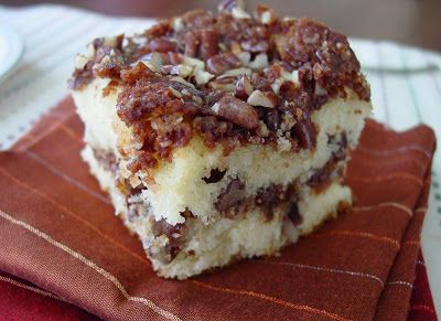 This wonderfully aromatic coffee cake comes from Southern Cakes by Nancie McDermott . This is the new book that was chosen by The C...
