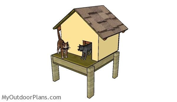 Insulated Cat House Designs on outdoor cat house designs, insulated dog house blueprints, winter cat house designs, dog kennel designs,
