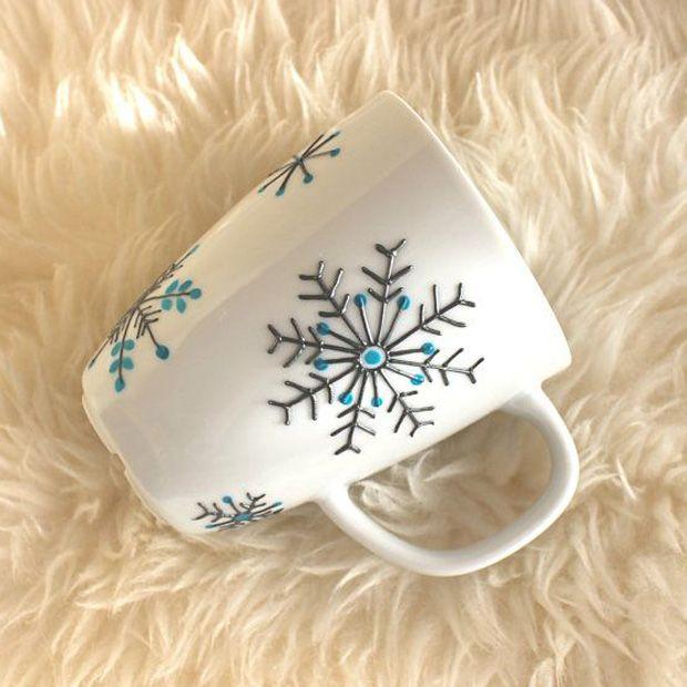 Snowflakes - tasarım kupalar