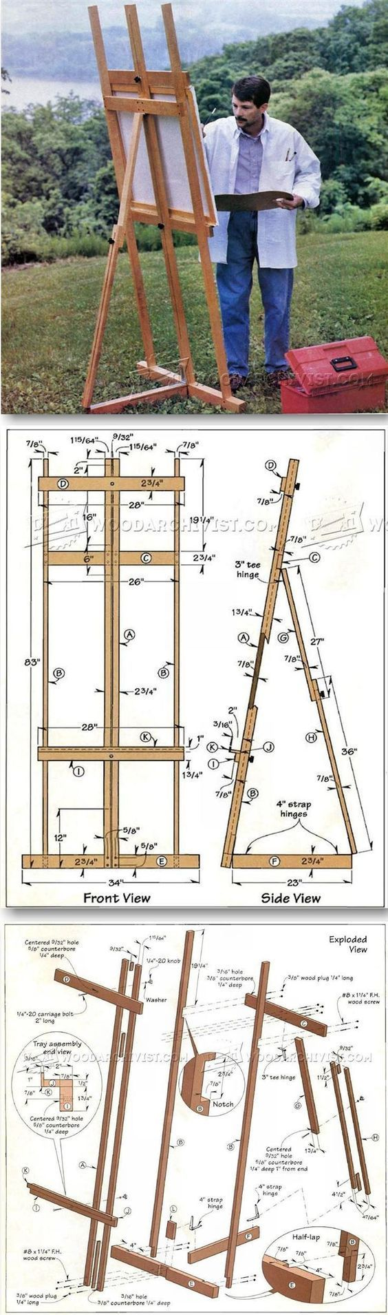 DIY Art Easel - Woodworking Plans and Projects | WoodArchivist.com