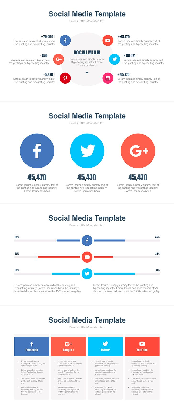 The 25 best templates for powerpoint ideas on pinterest slides free social media templates for powerpoint ppt easy to edit 4 alramifo Images