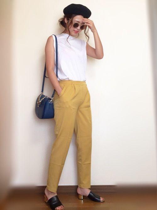 インスタ: mii_wear ▷プロフから飛べます✈︎ 欲しかったマスタードイエローのパンツ プチプ