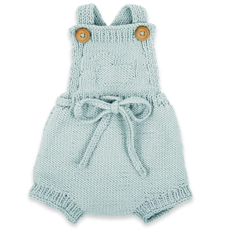 Combinaison Mamy Factory: barboteuse couleur bleu ciel pour bébé.