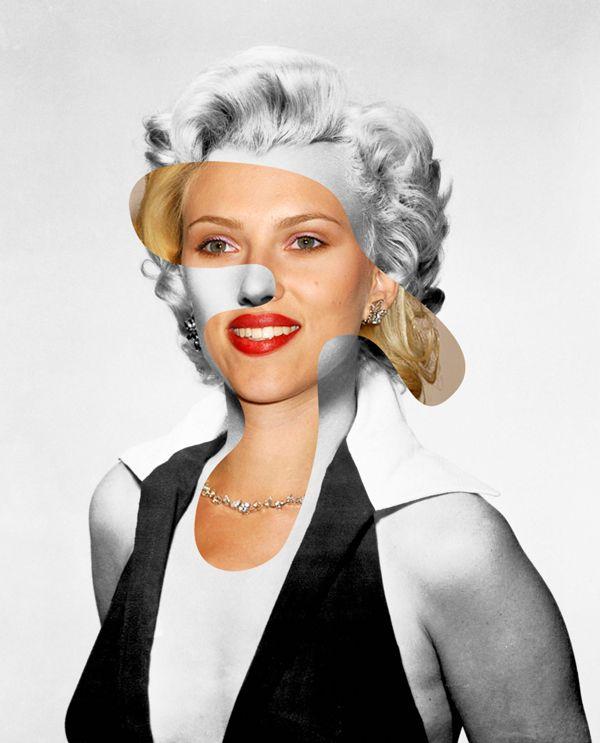 Ikonatomi: Eski ve yeni ikonlar  Marilyn Monroe/Scarlett Johansson  http://www.sanatblog.com/ikonatomi-karisik-star/