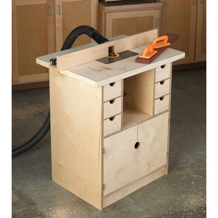 Router table and organizer woodworking plan from wood for Banco fresa kreg
