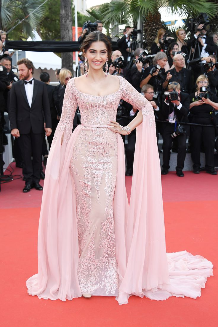 Sonam Kapoor in custom ELIE SAAB Haute Couture at the 'The Meyerowitz Stories' screening during the 70th annual Cannes Film Festival.