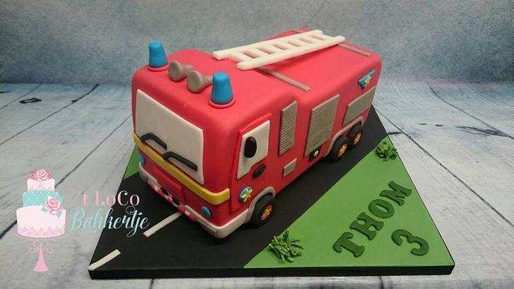 Brandweerwagen taart