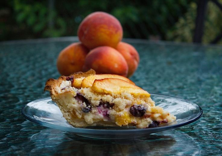Life is Short so Eat Dessert First, a Perfect Summertime Pie- Peach Blueberry Cu…