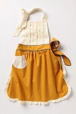 Tea and crumpets apron