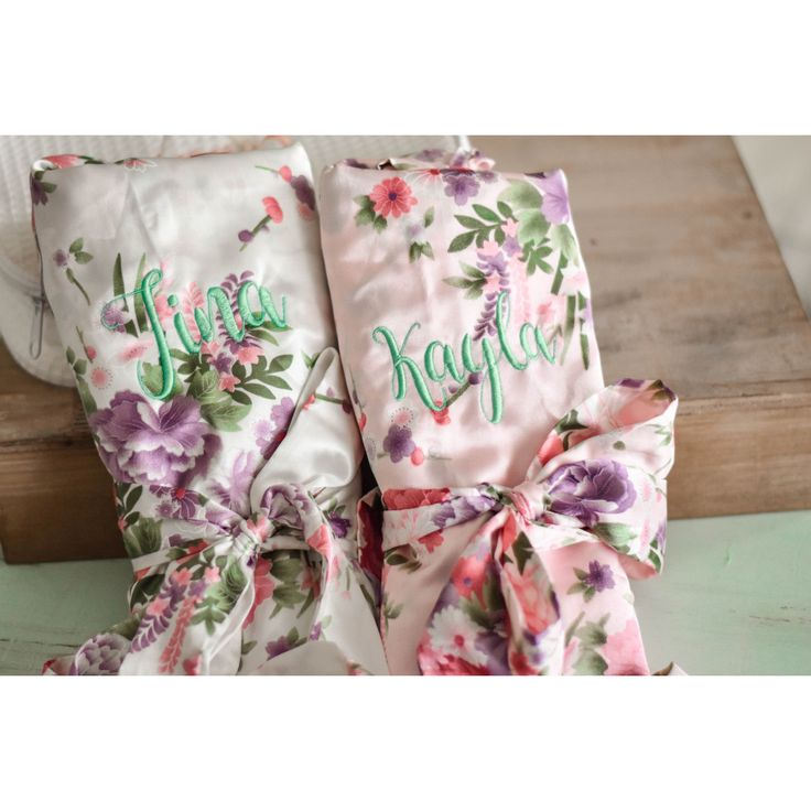 Floral Kimono Bridesmaid Robes - Bridal Party Wedding Day Gifts