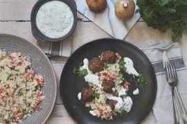 Kjøttboller med couscoussalat og agurkyoghurt
