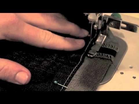 Custom Sewing | Instructional Video on How to hem jeans leaving the original hem |     www.bellajeanboutique.com