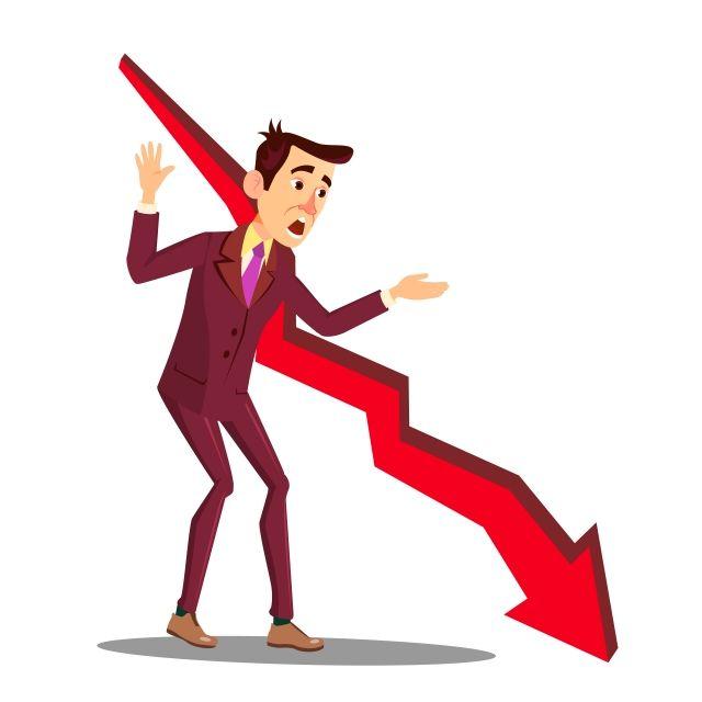 manajer stres di sebelah panah jatuh grafik penjualan ilustrasi terisolasi grafik bisnis turun png dan vektor dengan latar belakang transparan untuk unduh gr in 2020 illustration graphing real estate marketing manajer stres di sebelah panah jatuh