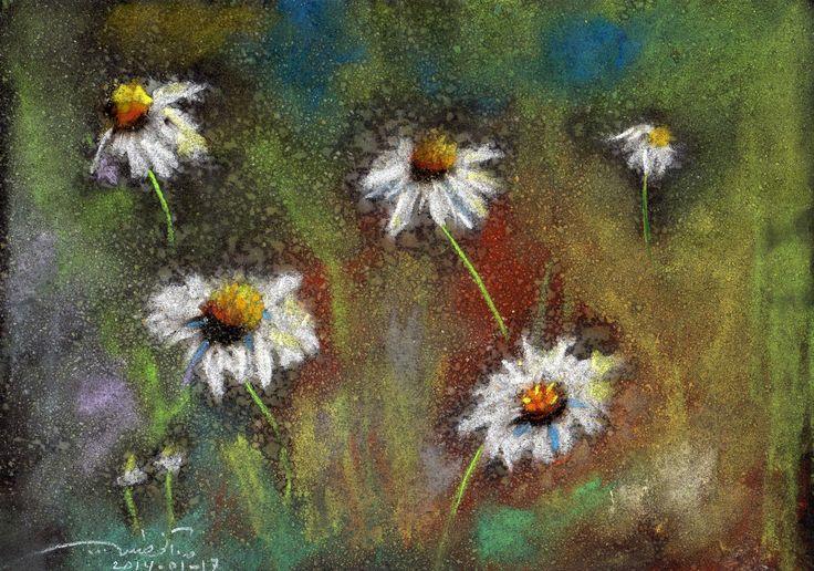 Wild Flowers! Chalk pastel. qusay.alkhateeb.se