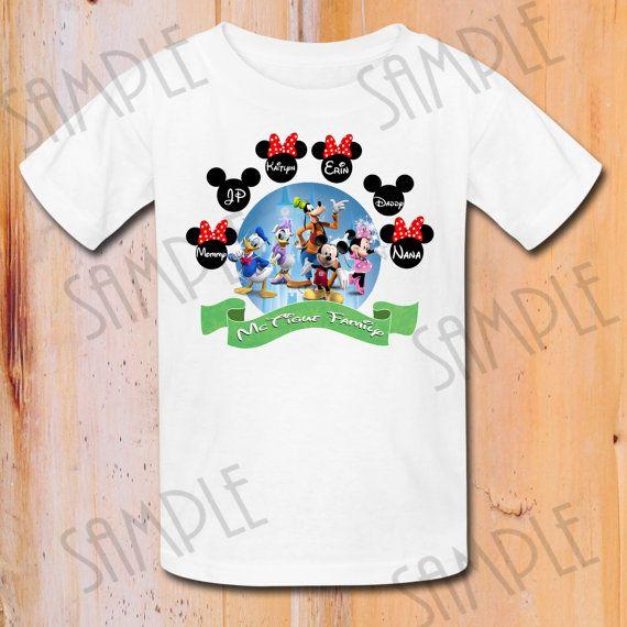 Disney family vacation t shirts iron on transfer printable for Custom t shirt transfers