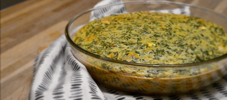 Een lekker recept voor spinaziekoek: hartige taart zonder bladerdeeg.