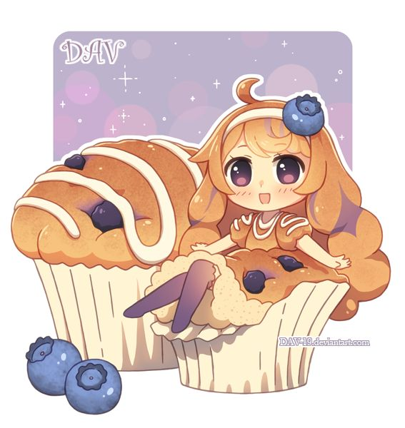 Blueberry Muffin by DAV-19 on deviantART