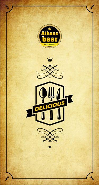 Menu / Catalog for Beer Bar by Pavlos Katsigiorgis, via Behance